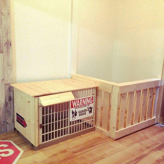 リビング 犬小屋 ケージ 犬のゲージ 犬の部屋 などのインテリア実例 2015 11 23 16 06 08 Roomclip ルームクリップ 犬小屋 犬の部屋 インテリア