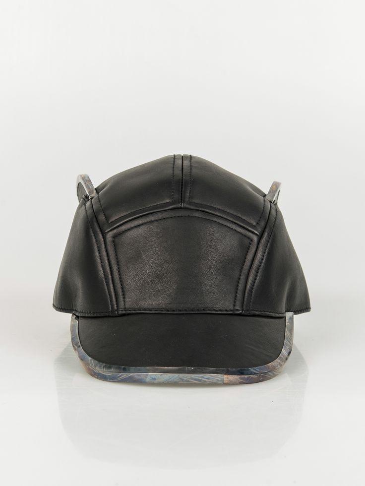 HOUSE OF MALAKAI , Phantom Leather Hat Detailed with  Gunmetal  #shopigo#shopigono17#ss15#houseofmalakai#headwear#rihanna#beyonce#accessory