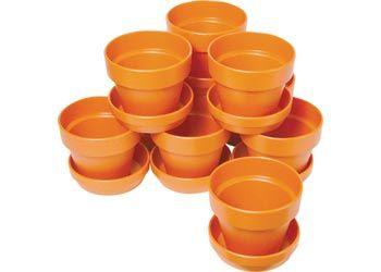 Mini Plant Pots 70 x 60mm Pack of 10. Fabulous plastic plant pots for floral crafts. 70(dia.) x 65mm(H).