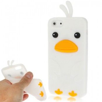 White Chick Silicon iPhone Case