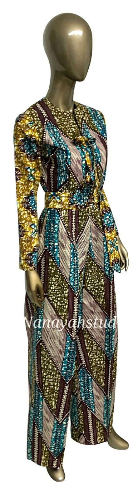 AYAWAX Collection. Multi African Print Jumpsuit. by NanayahStudio