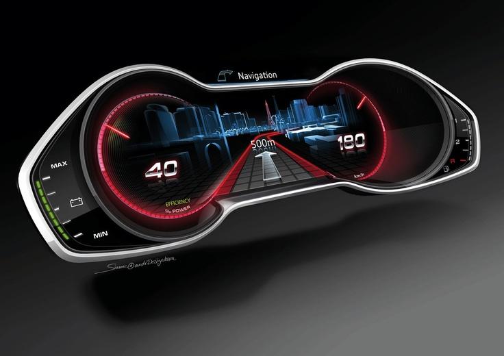 Dashboard interface - yummy car interface