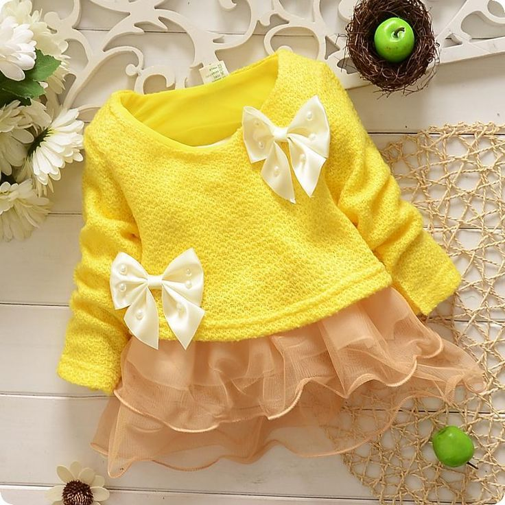 Cute Little Girl Dresses 2016 Children'S Dresses With Bowknot Kids Clothes Princess Dress Brand Fashion Children Party Dresses Baby Girl Dress Age 2t 7t 632113 Red Dresses For Toddlers From Note1524, $38.75  Dhgate.Com