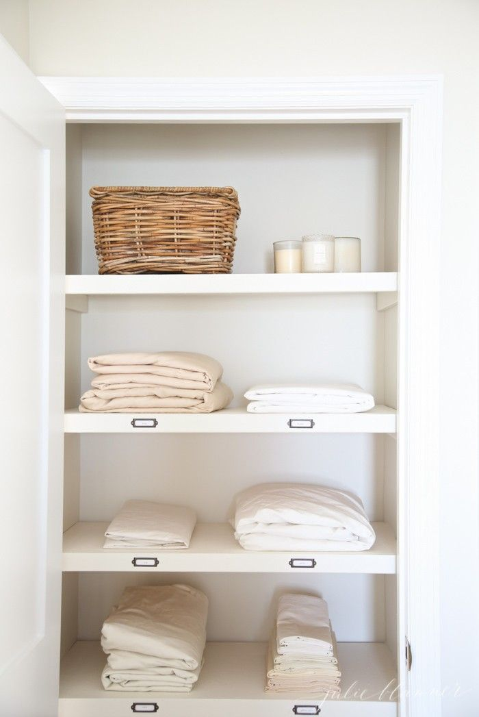 Elegant Hallway Linen Cabinet