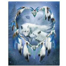 NEW Crafts Diamond Embroidery Wolf heart Diy Full Diamond Painting Kit for…