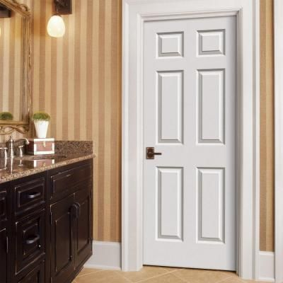 Superb Colonist White Painted Right Hand Smooth Solid Core Molded Composite MDF  Single Prehung Interior Door