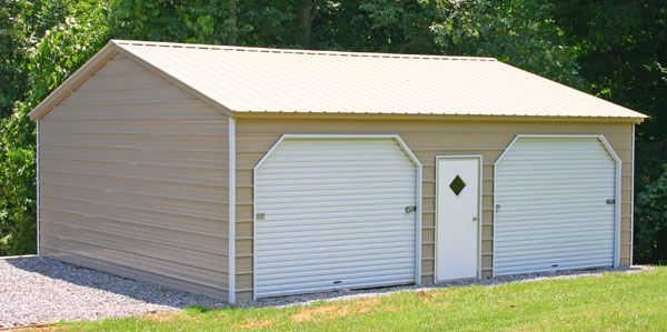 Carport Fully Enclosed And Turned Into A 2 Car Garage With
