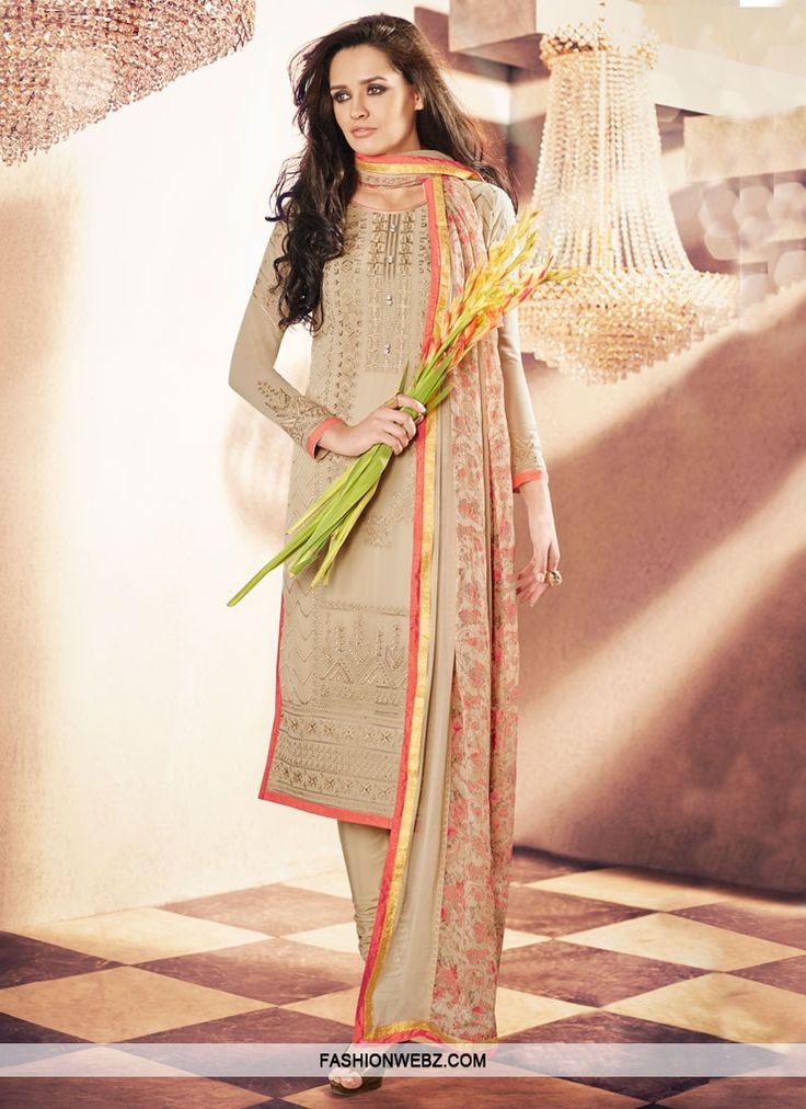 Admirable Embroidery Work Party Wear Salwar Kameez
