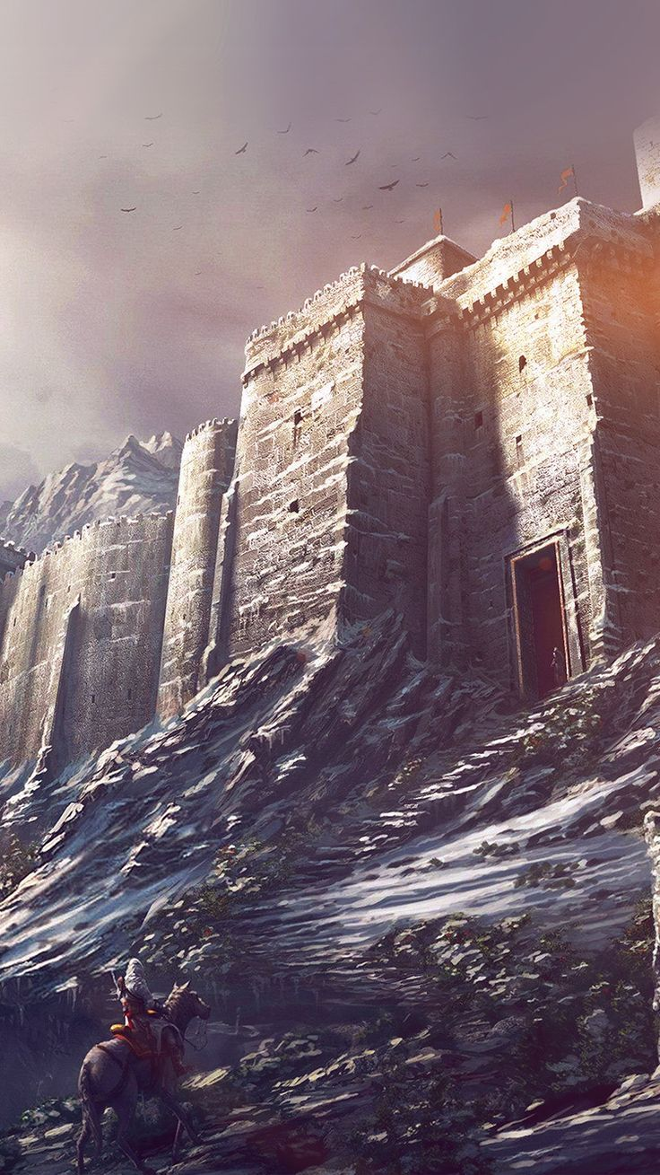 GAME ILLUSTRATION CASTLE SNOW WINTER FLARE WALLPAPER HD IPHONE iPhone X Wallpaper 778559854303183655 1