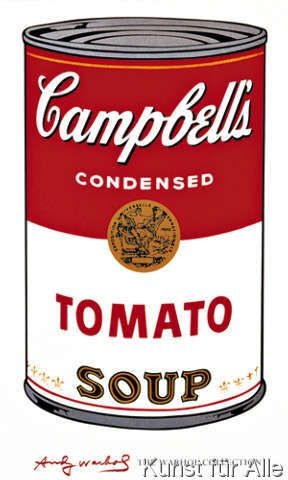 Andy Warhol - Campbell's Soup (Tomato)