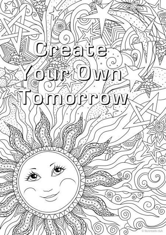 Create Your Own Tomorrow Printable Adult Coloring Page From