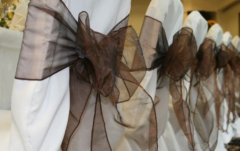 Brown & Gold sashes - alternate by table