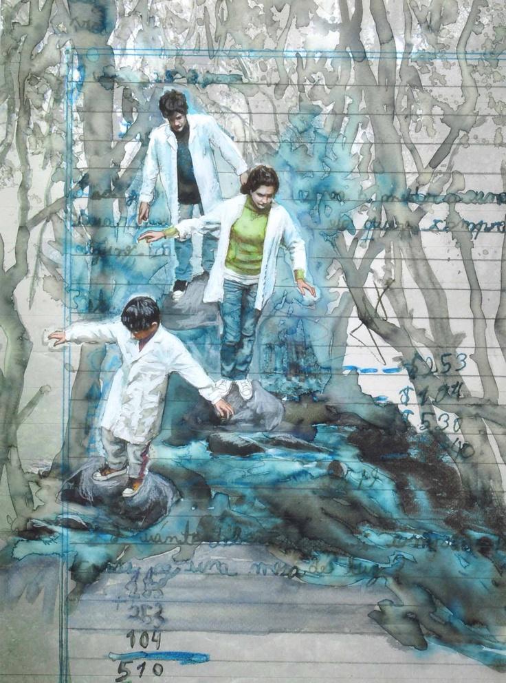 Cuentos de la Selva. Acuarela y Acrílico, 42 x 32cm. 2011