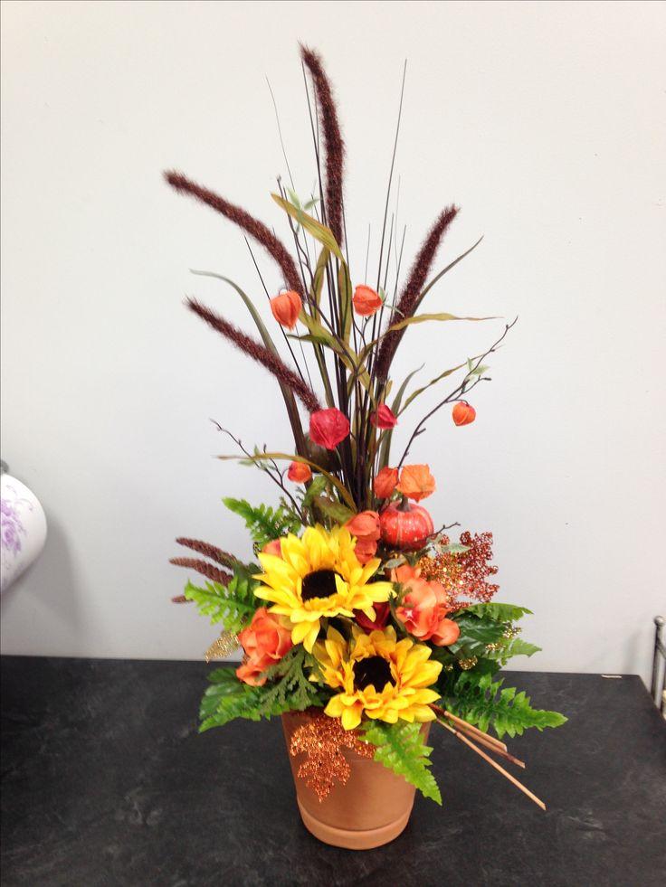 how to make fall artificial flower arrangements