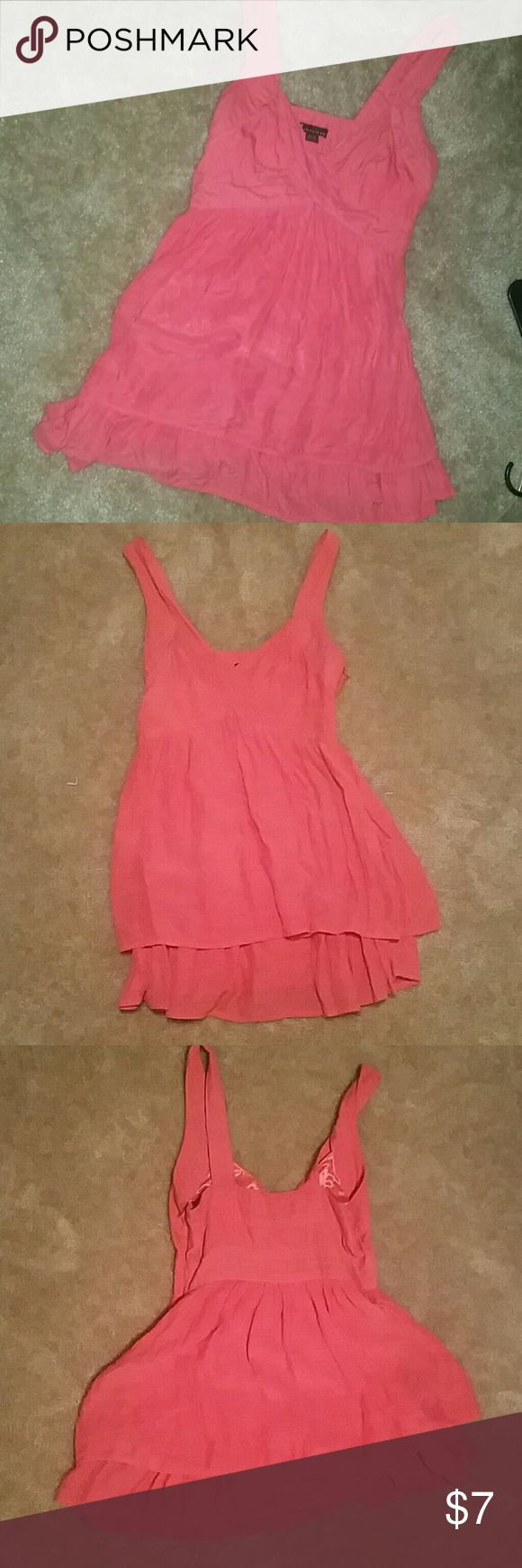 Medium-sized mini dress Salmon Color Salmon colored mini dress with semi ruffle underlay Forever 21 Dresses Mini