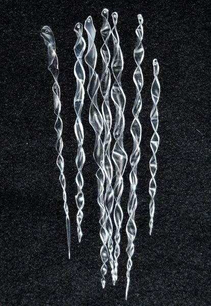 jewellery silver DIY  EASY  Icicle Ornaments made from Plastic Bottles  Hang on your outside or inside trees  garlands  etc