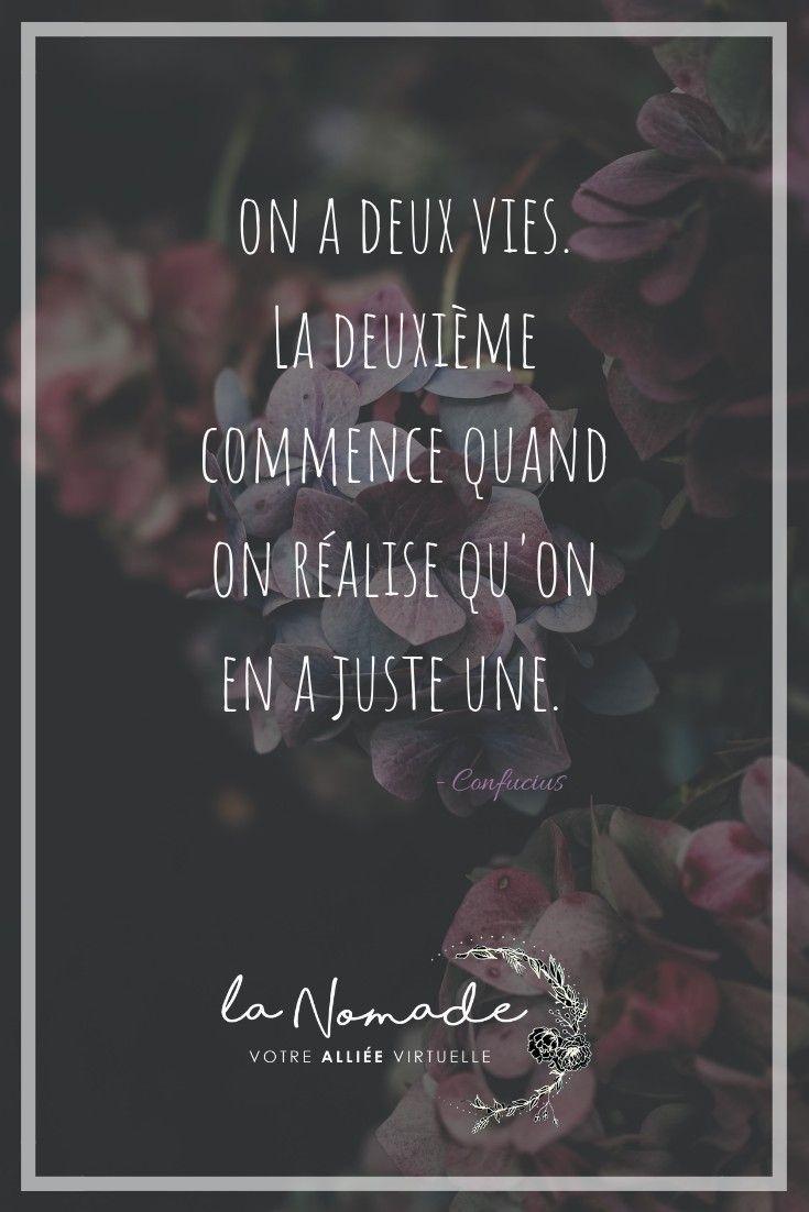 Citation On A Qu Une Vie : citation, Citation, Confucius, Quotes,, Citations,, Movie, Posters