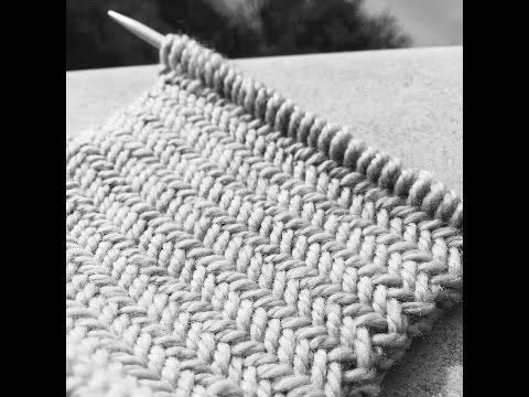 Le point de BAMBOU How to knit the BAMBOO stitch - YouTube