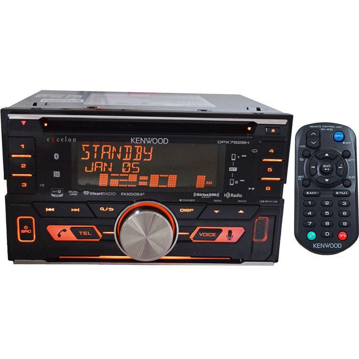 Kenwood DPX792BH Double DIN AM/FM CD USB HD Radio Pandora Bluetooth Car Stereo #Kenwood
