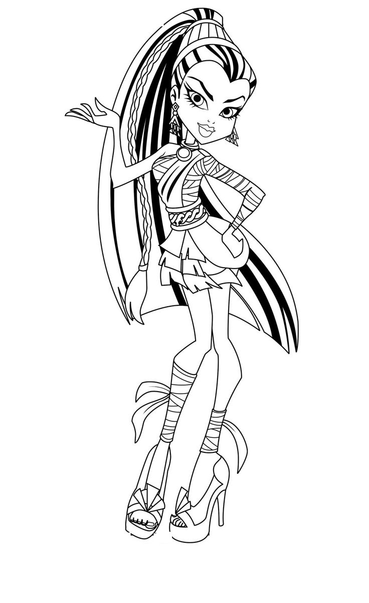 Colouring sheets for lkg - Monster High Coloring Pages