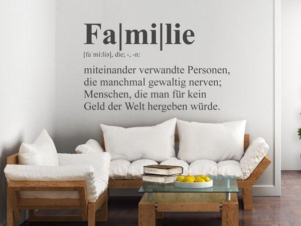 Wandtattoos für lustige Familien ♥ Ideen zur Wanddekoration in ...