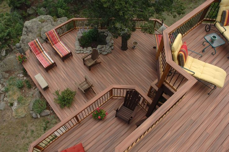 Multi Level Backyard Decks :  deck deck ideas tropic deck fiberon tropics deck colorado level