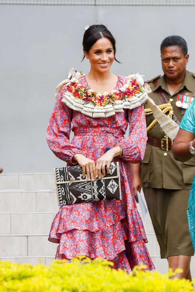 Meghan Markle Just Rocked A Pom Pom Maxi Dress | MEGHΛN