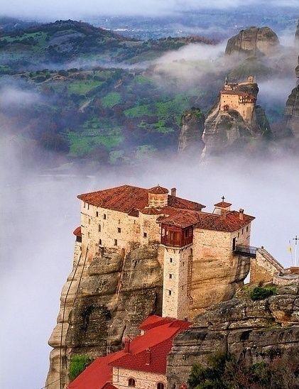 The Monasteries at Meteora, Greece.