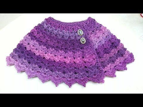 Tutorial de capa para todas edades Niña/Adulto a crochet Pt 1/2 - YouTube
