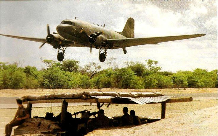 The WWII vintage Dakota was still used in the South African Bush War 40 years later. Brings back many memories