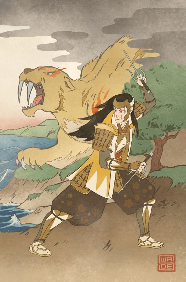 Ukiyo-e Yellow Ranger - MMPR Comic Variant Cover by swadeart on DeviantArt