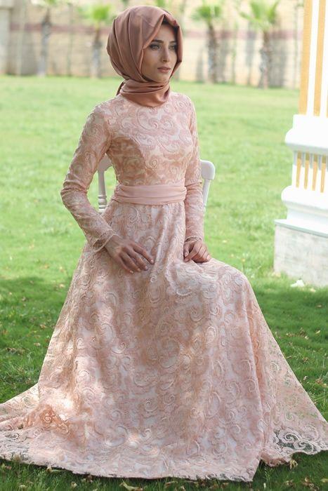 Nur Banu Pudra Azra Abiye Elbise