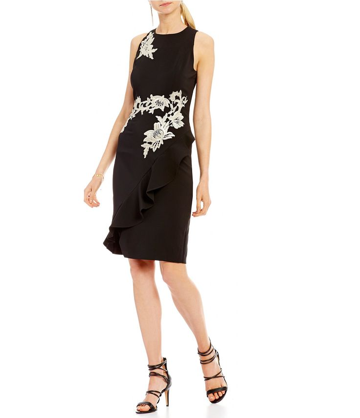 Shop for Jax Floral Applique Ruffle Front Dress at Dillards.com. Visit Dillards.com to find clothing, accessories, shoes, cosmetics & more. The Style of Your Life.