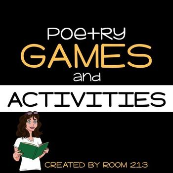 Poetry can be fun!  Use these engaging games and activities to give your students practice in identifying and using figurative language.  The activities in this package have options for individual work as well as collaboration.  There are also several activities that get kids out of their seats and moving.