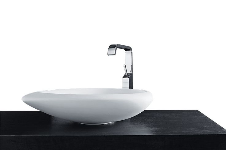 Inspired by the shapes of the #nature, #Sasso has a fascinating and unique design. #MastellaDesign #basin #washbasin #blackandwhite #bathdesign #bathroom #design