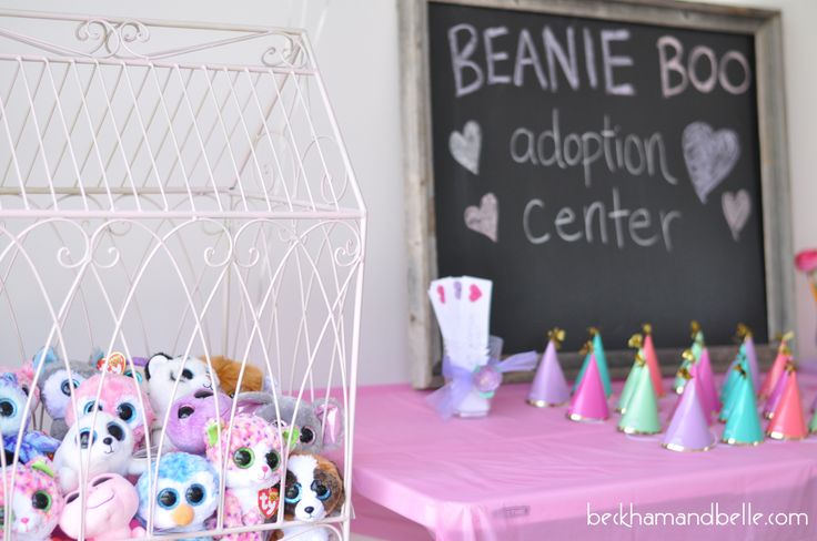 "For her 6th birthday, my daughter asked for a ""Beanie Boo Adoption Party"". Having no idea what that was, I had to start researching."