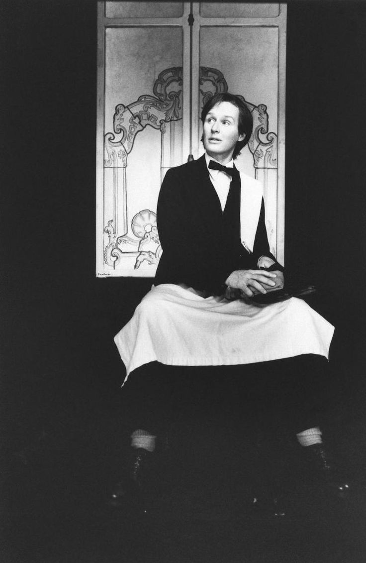 """""""Glenn Close in a scene from the American Premier production of THE SINGULAR LIFE OF ALBERT NOBBS, the fifth and final Manhattan Theatre Club Downstage production of the 1981-82 season running June 7 – July 10. Photo credit: Gerry Goodstein."""""""