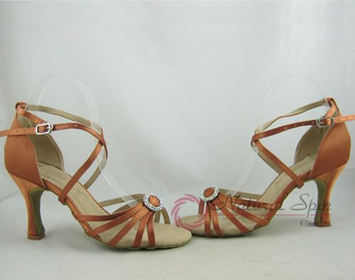Elegant Dance (MZX) Ladies Dance Shoes (Classic): Latin Shoes(Open Toe) L1123-05