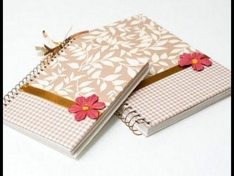 Faça em casa um caderno personalizado e decorado