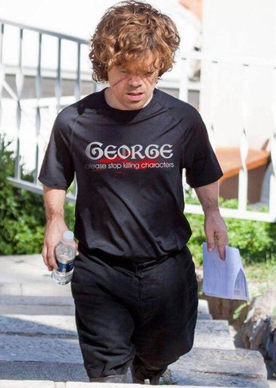 Peter Dinklage on the set of Game of Thrones…