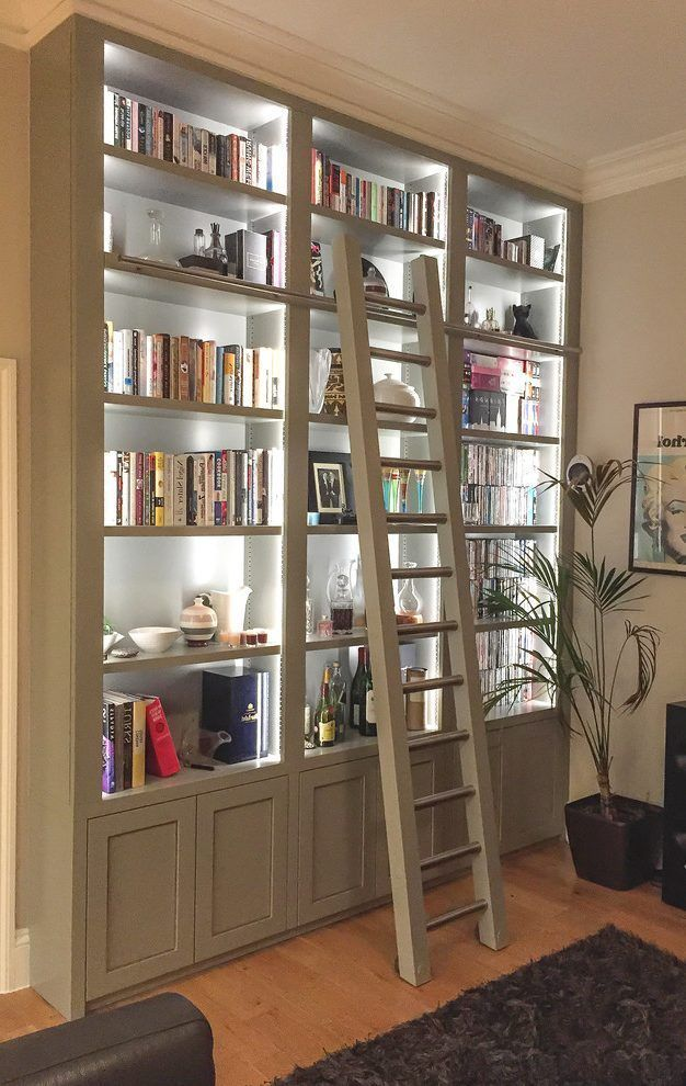 Built In Display Cabinets Bookshelves In Living Room Home