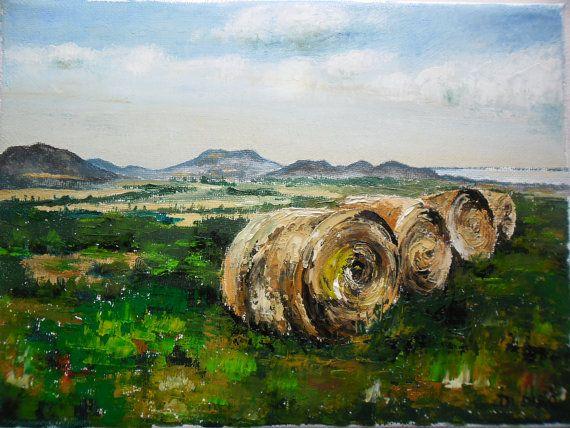 Art  Oil Painting  Original Painting Balaton by kezulegsajat