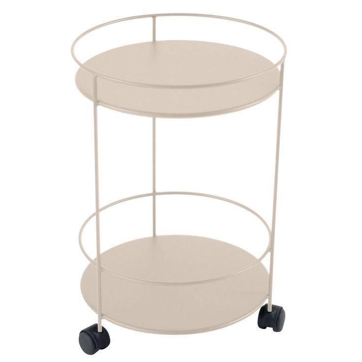 Guéridons Wheels bord, linen i gruppen Rom / Utendørs / Utendørsmøbler hos…
