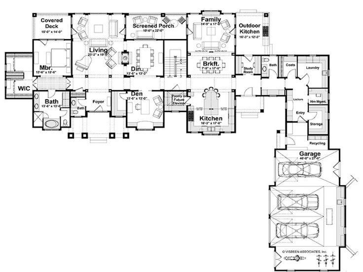 T shaped house plans courtyard garage t free printable T shaped house plans