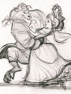 Character designs for Beauty and the Beast (1991), by Glen Keane