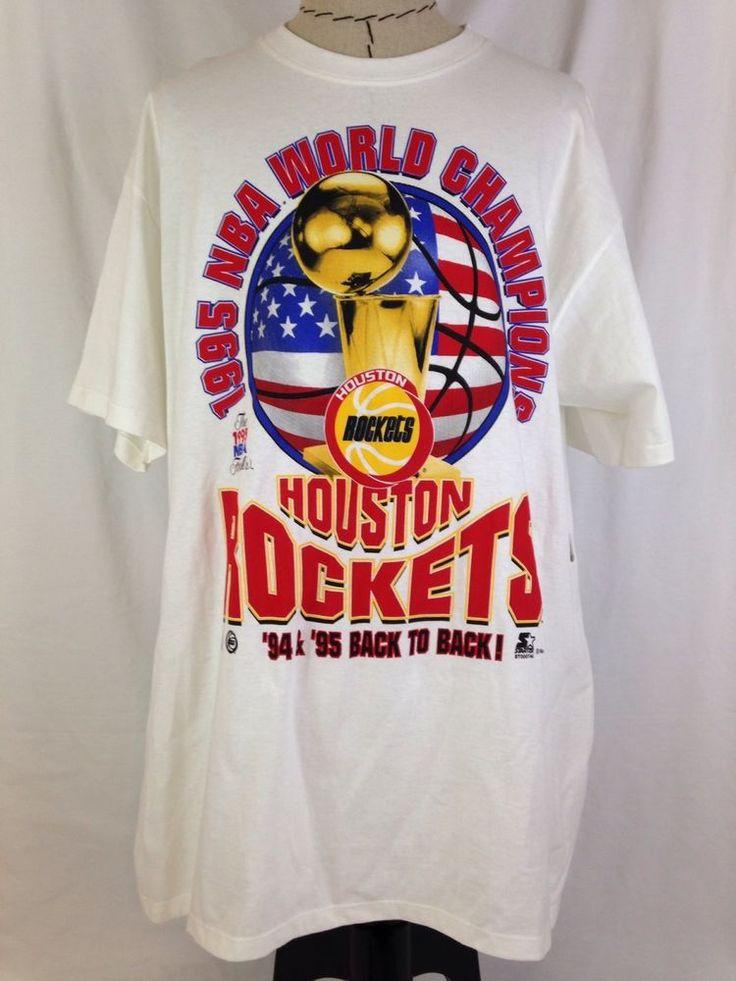 Houston Rockets 1994 1995 NBA World Champions Mens Shirt XL Finals Back To Back #Starter #HoustonRockets #Houston #Rockets #Basketball #Champions #Ebay #EbaySeller #EbaySellers #EbayDeals #EbayStore #EbayLife #EbayReseller #Reseller #ResellerLife #Thrifting #ThriftingLife #Thrift