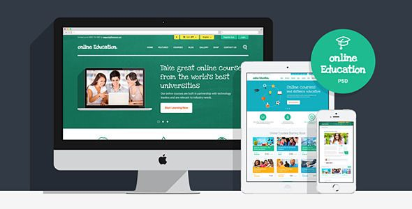 Website Theam for Online Education | PSD Template