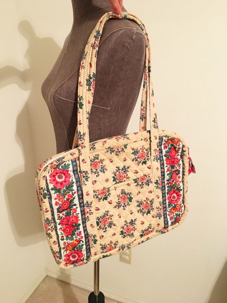 """Vintage Vera Bradley laptop bag in retired print """"Tea Garden"""" which premiered in Soring 1993! by fancydollhouse on Etsy https://www.etsy.com/listing/526209986/vintage-vera-bradley-laptop-bag-in"""