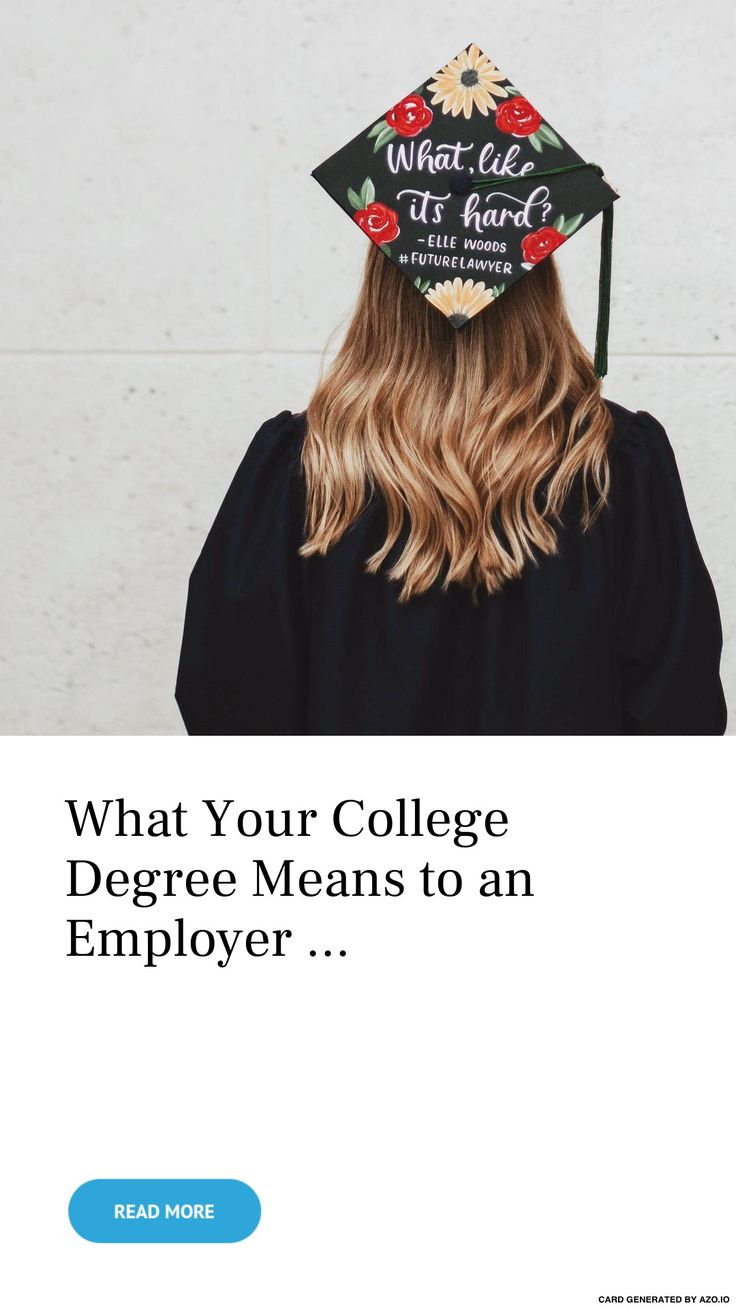 What 🤔 Your #College Degree 📜 #Means to an #Employer 🏢 … – #Money