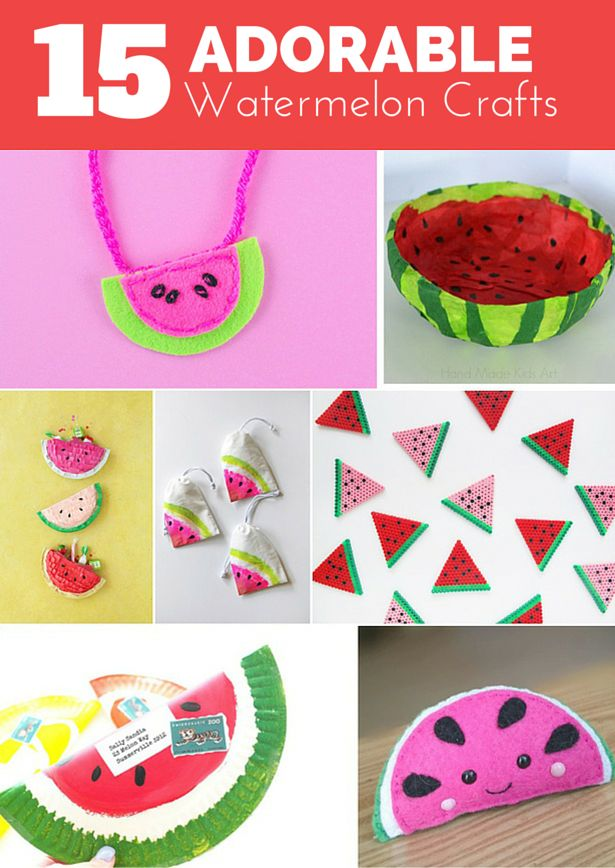 15 Adorable And Sweet Watermelon Crafts For Kids Cute Colorful Fruit Summer